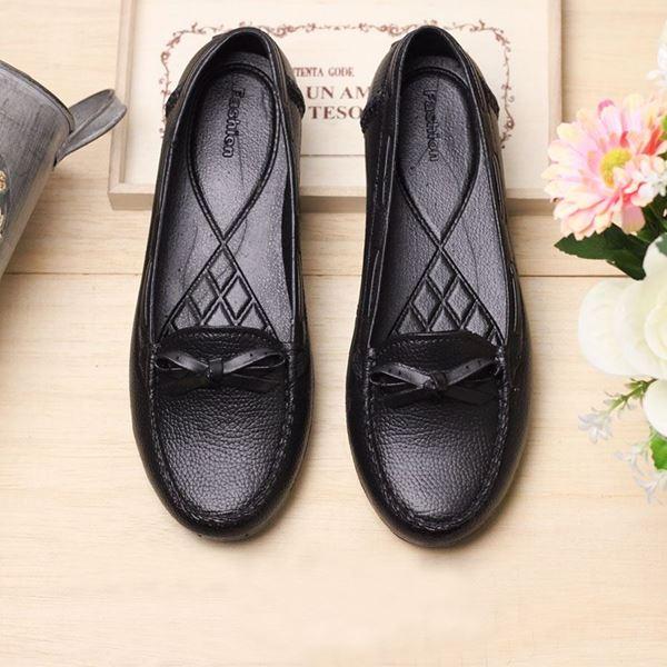 Picture of Dress A Cute รองเท้าแฟชั่นผู้หญิง แบบยาง สไตล์โลฟเฟอร์ สีดำ